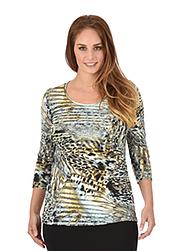 Trigema Damen Shirt Leopard