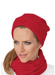 Trigema Damen Fleece Mütze Kirsch