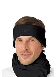 Trigema Herren Fleece Stirnband Schwarz