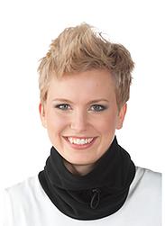 Trigema Damen Fleece Mützen-Schlauchschal Schwarz
