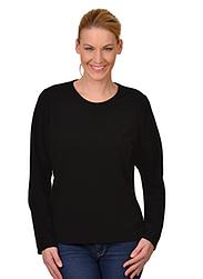 Trigema Damen Fleece-Shirt Schwarz