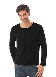 Trigema Herren Fleece-Shirt Schwarz