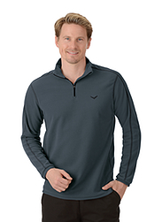 Trigema Herren Fleece Shirt Anthrazit