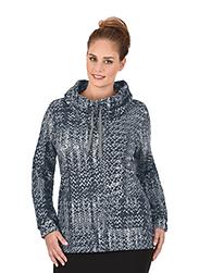 Trigema Damen Sweatshirt in Strickoptik