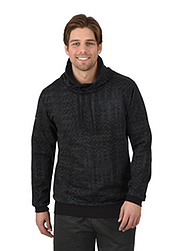 Trigema Men Sweater with Stand-up Collar
