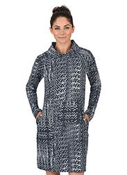 Trigema Damen Kleid mit Schalkragen