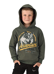 Trigema Kids Hooded Sweater Wolf