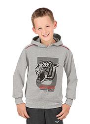 Trigema Kids Hooded Sweater Tiger
