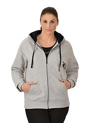 Trigema Damen Kapuzen-Jacke Sweat-Qualität
