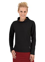 Trigema Damen Sweater mit Swarovski® Kristallen Schwarz