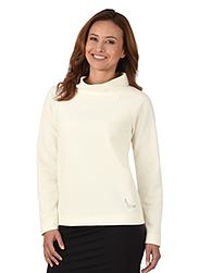 Trigema Damen Sweater mit Swarovski® Kristallen Natur