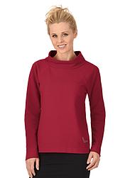 Trigema Damen Sweater mit Swarovski® Kristallen Rubin