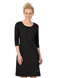 Trigema Damen Kleid mit Swarovski® Kristallen Schwarz