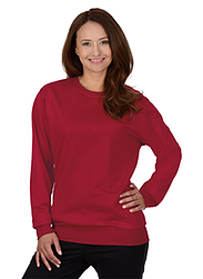 Trigema Damen Sweat-Shirt Biobaumwolle Rubin-C2C