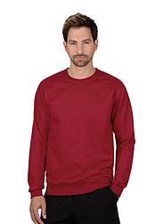 Trigema Herren Sweat-Shirt Biobaumwolle Rubin-C2C