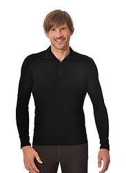 Trigema Herren Langarm Ski/Sport Shirt Schwarz