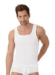 Trigema Men Singlet Vest Twin Pack