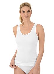 Trigema Damen Unterhemd mit Spitze Doppelpack