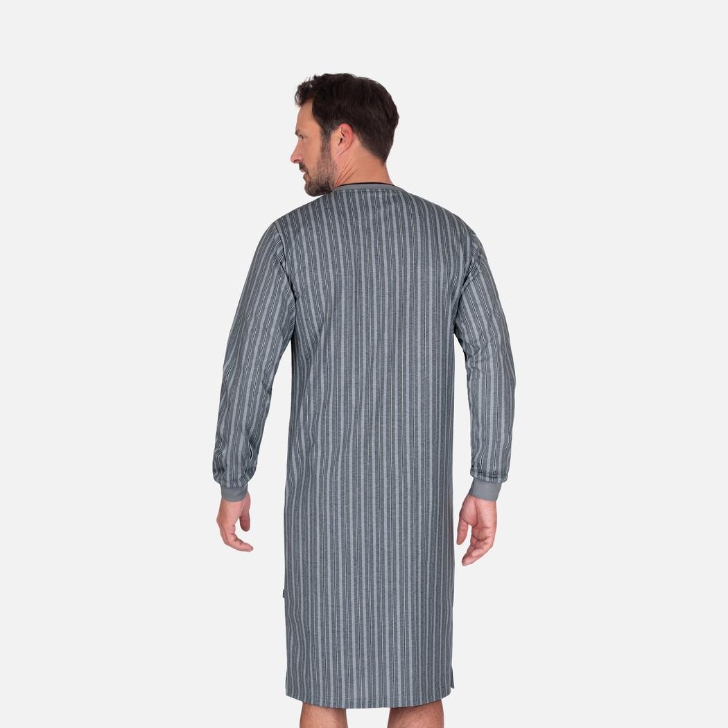 Nachthemd für Männer mit V-Ausschnitt cool-grey | M | TRIGEMA