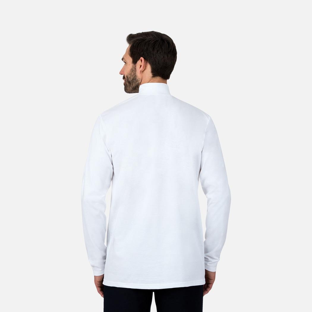 langarm shirt mit stehkragen weiss s trigema. Black Bedroom Furniture Sets. Home Design Ideas