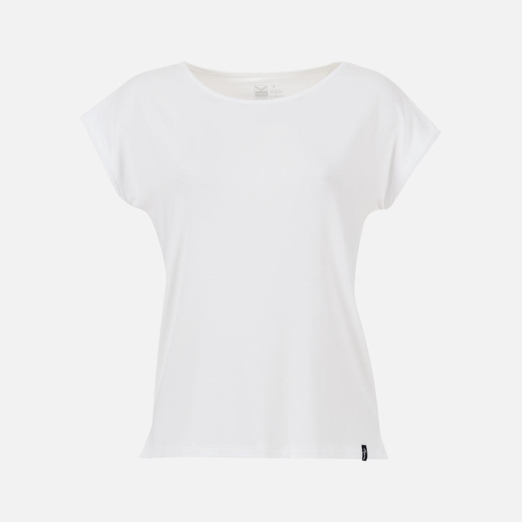 4f7d85aae6b64b T-Shirt aus Viskose weiss