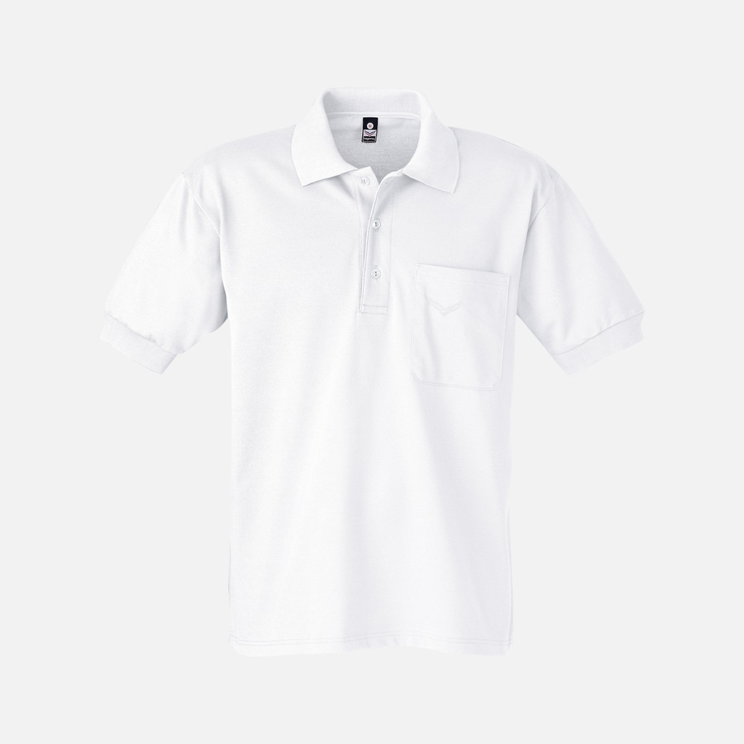 online store 47751 3e136 Polo-Shirt with Chest Pocket white | L | Trigema - 100% MADE ...
