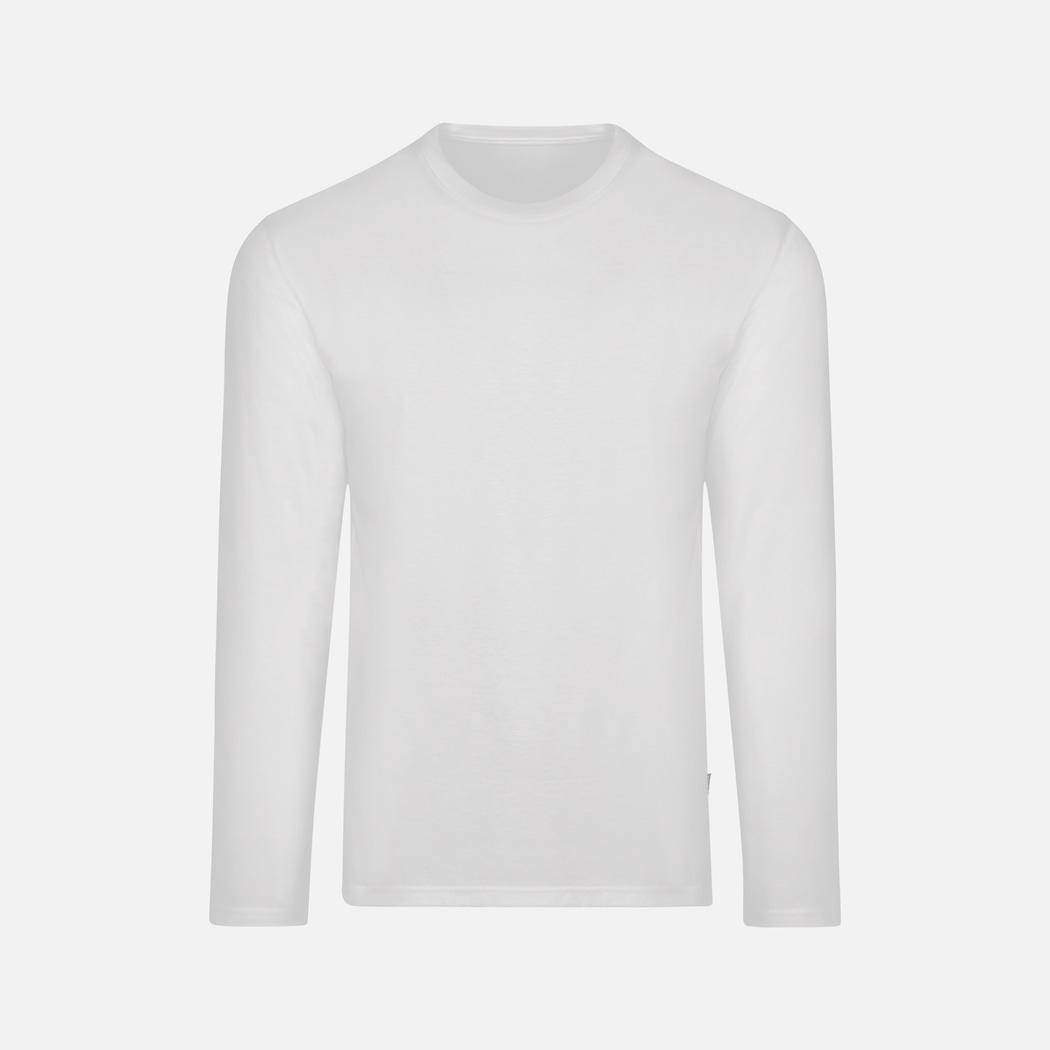 Langarmshirt aus 100% Baumwolle weiss | L | TRIGEMA