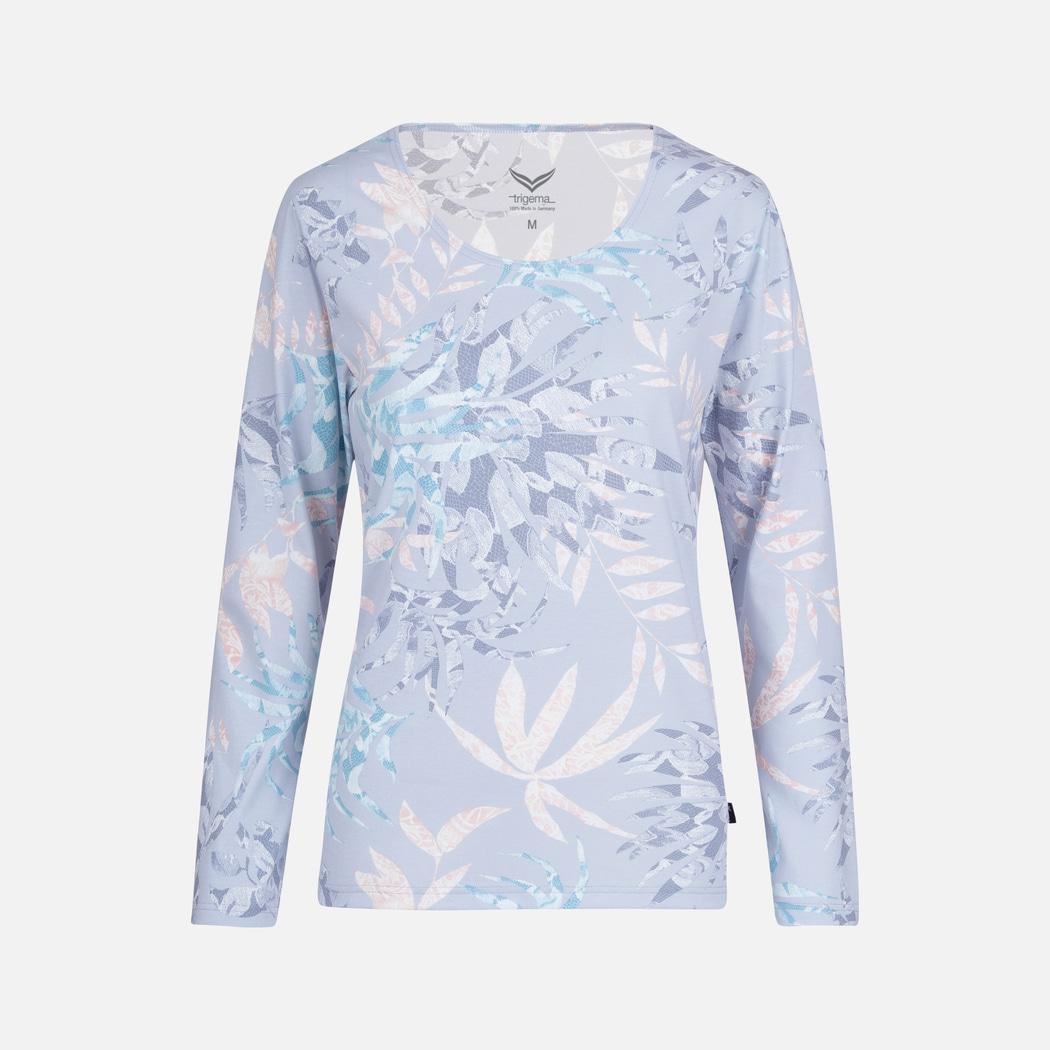 online retailer 536a6 4e175 Schlafanzug-Oberteil aus Baumwolle mauve   L   TRIGEMA