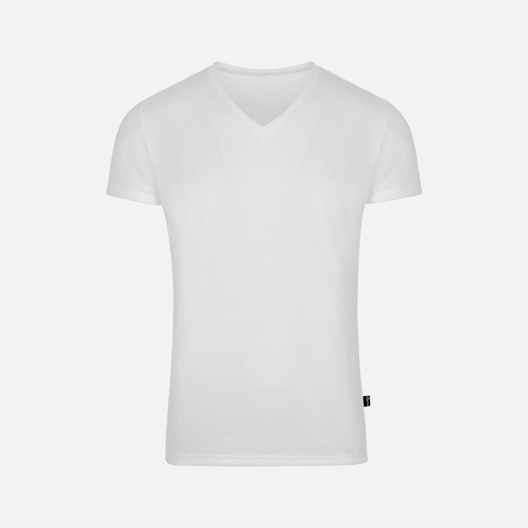 fd1cd66864d5 V-Neck Shirt 100% Lyocell white | L | Trigema - 100% MADE IN GERMANY