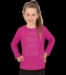 Trigema Kinder Langarmshirt Love