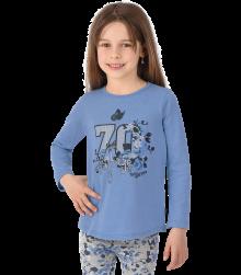Trigema Kinder Shirt Blumenprint