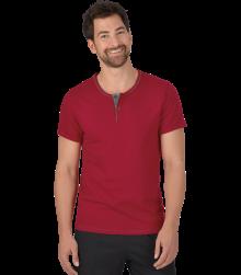 Trigema Herren T-Shirt Knopfleiste Biobaumwolle
