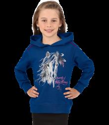 Trigema Kinder Kapuzen-Sweatshirt Pferd